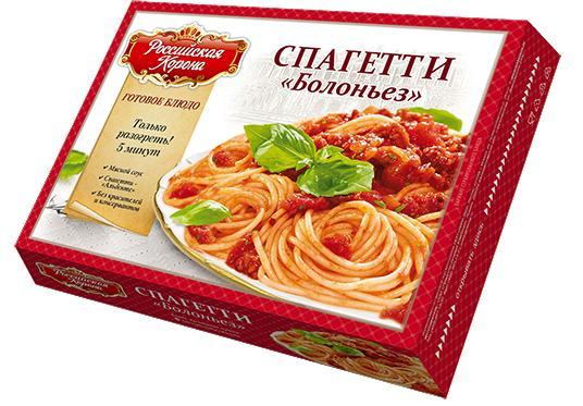 Готовое блюдо Российская корона Спагетти Болоньез