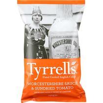 Чипсы Tyrrells со вкусом вустерского соуса и сушеных томатов