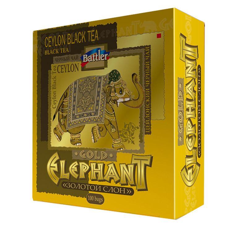 Чай Battler Золотой Слон черный в пакетиках 200 гр