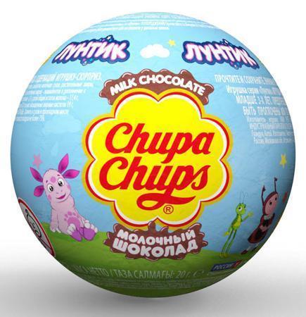 Шоколад Chupa Chups Молочный шар Лунтик