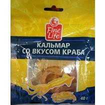 Кальмар Fine Life солено-сушеный со вкусом краба полоски