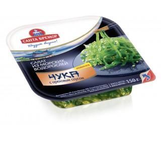Салат САНТА БРЕМОР из морских водорослей Чука с ореховым соусом 150гр