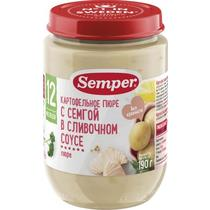 Пюре Semper картофельное с семгой в сливочном соусе с 12 месяцев