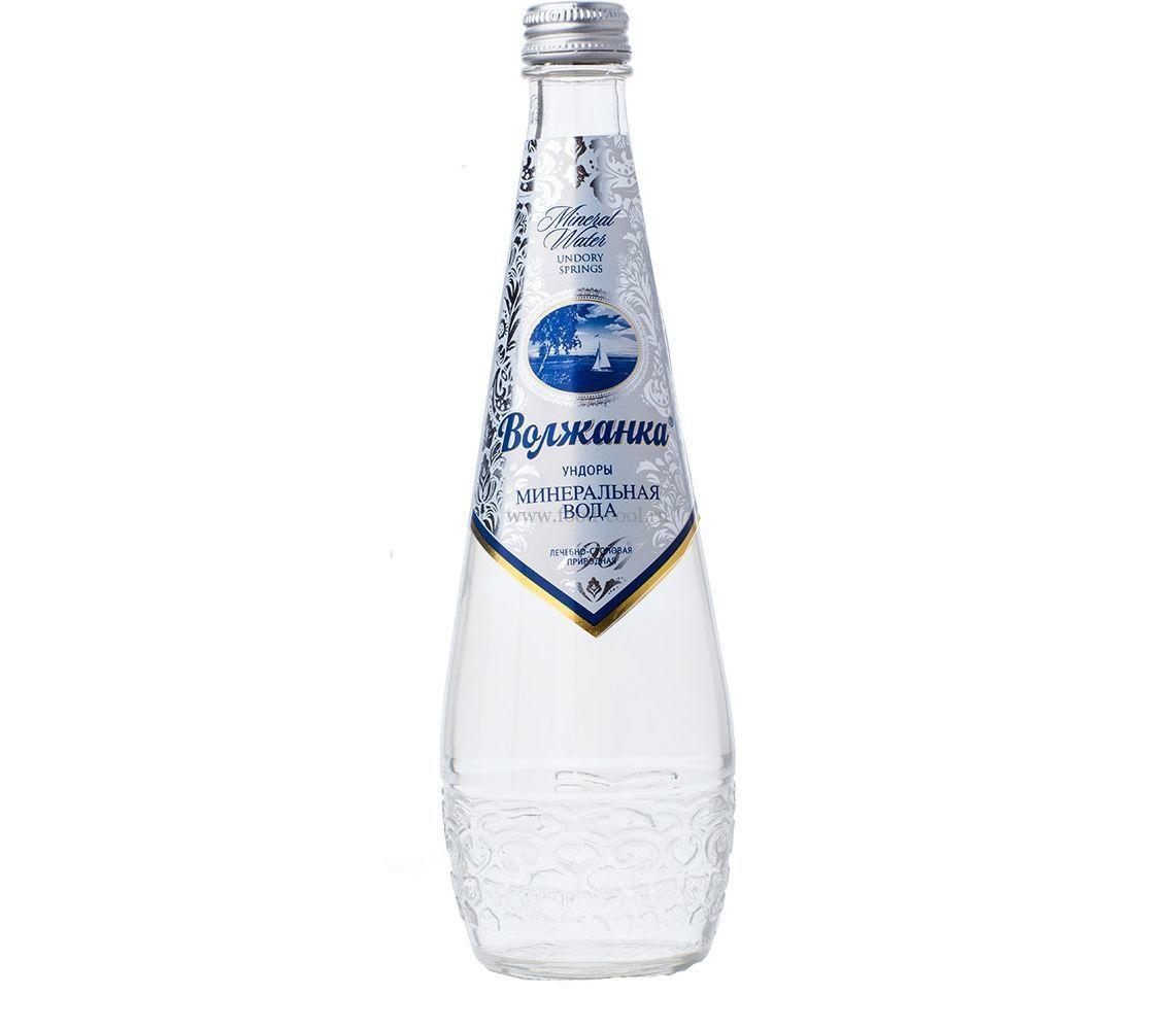 Вода Волжанка минеральная газированная