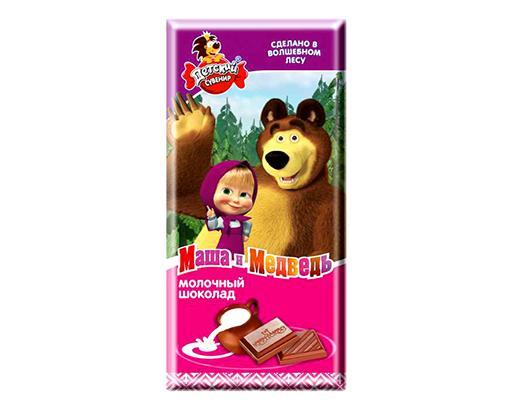 Шоколад Детский Сувенир Маша И Медведь молочный