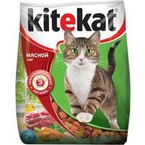 Корм сухой для кошек мясной пир Kitekat 800 гр. Пластиковый пакет