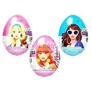 Шоколадное яйцо Сладкая сказка Модные подружки с игрушкой