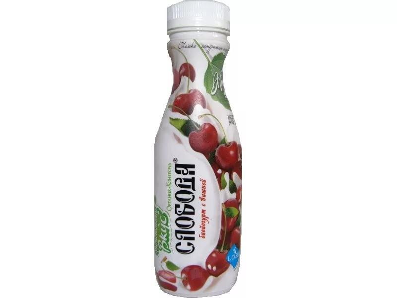 Йогурт Слобода Вишневый питьевой 2,0%
