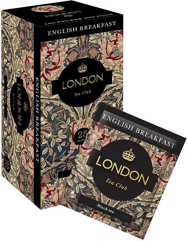 Чай London Tea Club English Breakfast черный 25 пак.