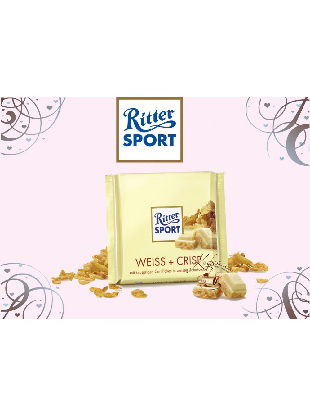 Шоколад Ritter Sport Weiss+Crisp