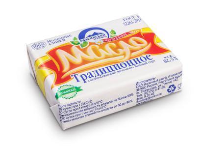 Масло сливочное Гиагинский молзав Крестьянское 72.5%