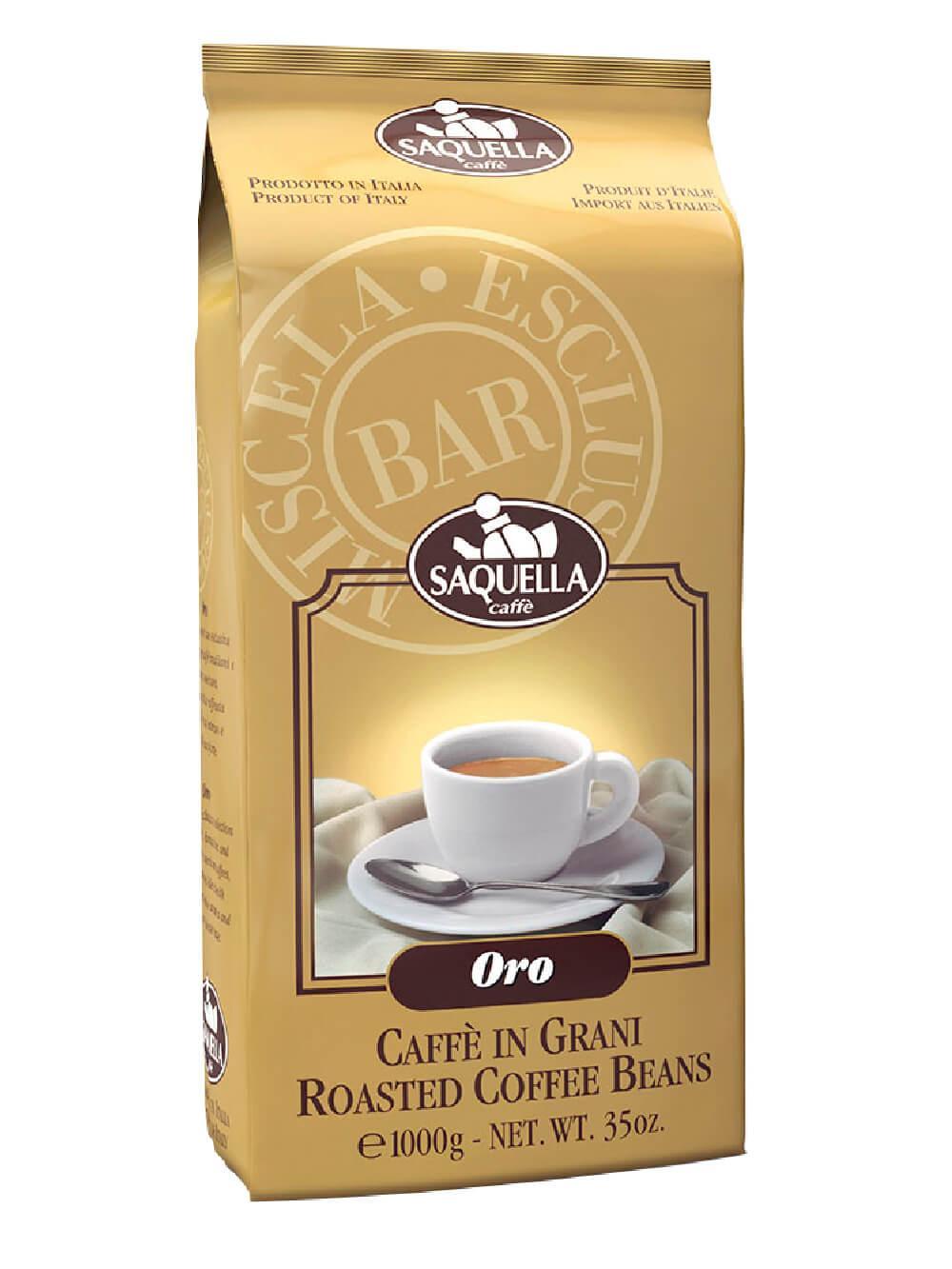 Кофе Saquella Oro в зернах