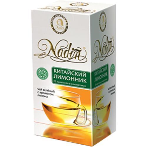 Чай зеленый Nadin Китайский лимонник 25 пакетов