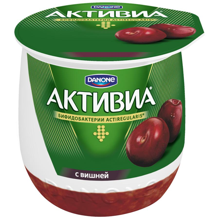 Йогурт Активиа Danone термостатная со вкусом вишни 2,7%