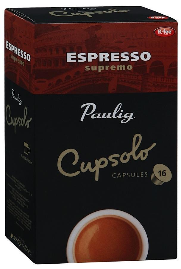 Кофе Paulig Espresso Supremo 16 капсул