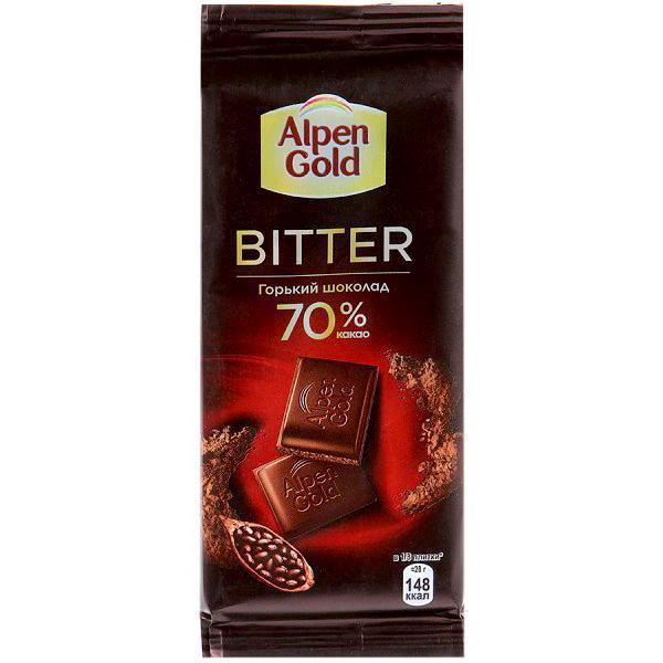 Шоколад Alpen Gold Bitter Горький 70%
