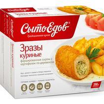 Зразы куриные фаршированые сыром с картофелем, Сытоедов