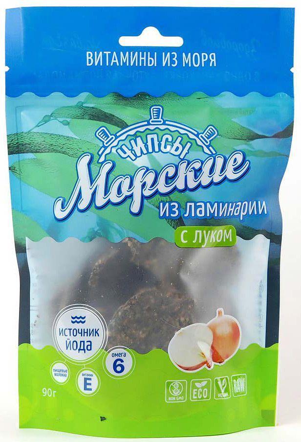 Чипсы морские Здоровцов из ламинарии с луком