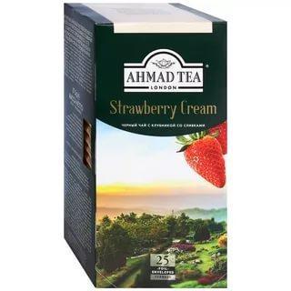 Чай Ahmad Tea листовой клубника со сливками