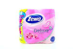 Туалетная бумага Zewa Deluxe трехслойная аромат Орхидея, 4шт