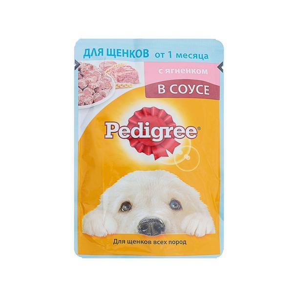 Корм влажный Pedigree С ягненком в соусе Для щенков
