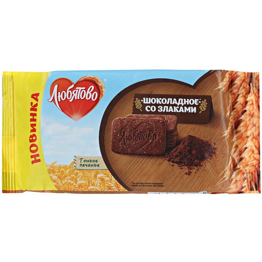 Печенье Любятова шоколад и злаки