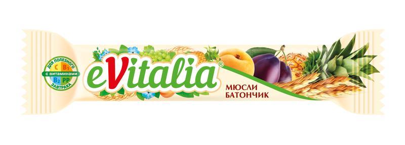 Батончик Evitalia Мюсли с витаминами