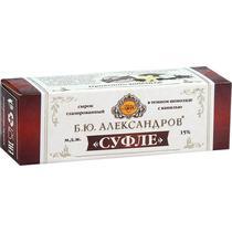 Сырок Б. Ю. Александров глазированный Суфле в темном шоколаде с ванилью 15%
