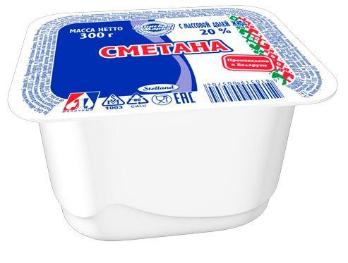 Сметана Минская марка 20,0%