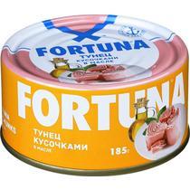 Рыбные консервы Fortuna Тунец кусочками в масле