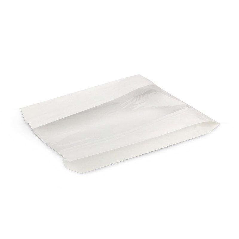 Пакет с пл. дн., 200(окно-100)*55*310 мм, белый