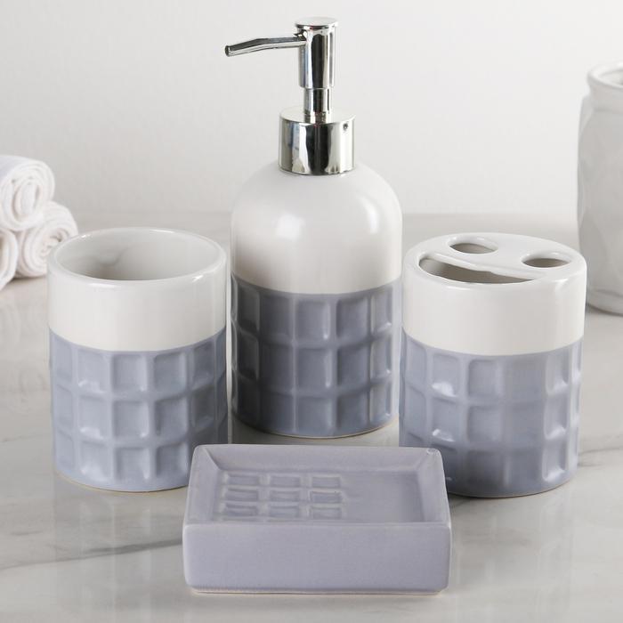 Набор аксессуаров Плитка для ванной комнаты 4 предмета