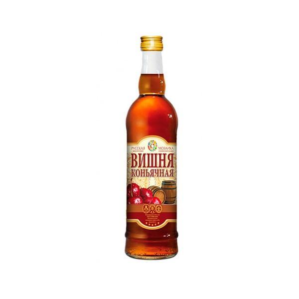 Вино Русская Мозаика вишня коньячная фруктовое полусладкое 14%