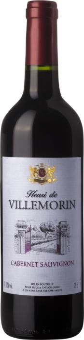 Вино Анри де Виллеморин Каберне Совиньон /  Henri de Villemorin Cabernet Sauvignon,  Каберне Совиньон,  Красное Сухое, Франция