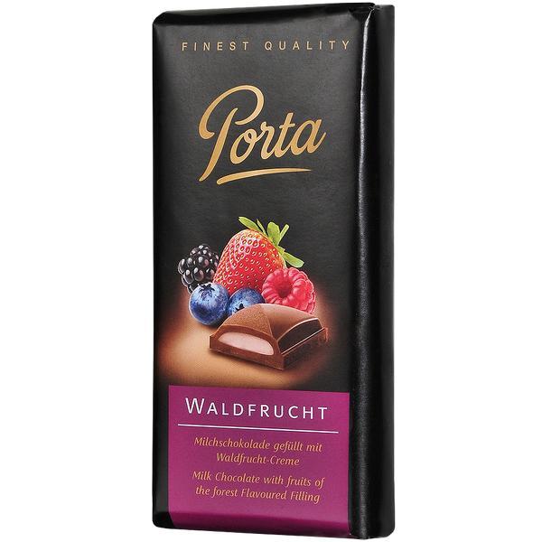 Шоколад Porta молочный с начинкой лесные ягоды