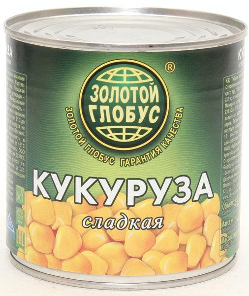 Кукуруза Золотой глобус сладкая