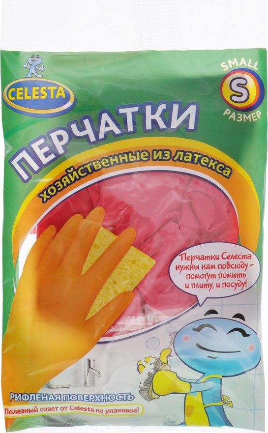 Перчатки Celesta Хозяйственные из латекса S