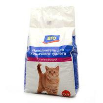 Наполнитель Aro для кошачьего туалета впитывающий 5 литров