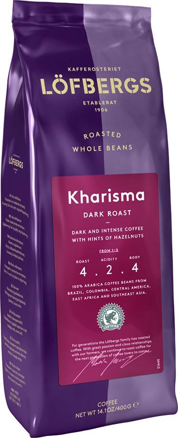 Кофе Lofbergs Kharisma в зернах 400 гр.