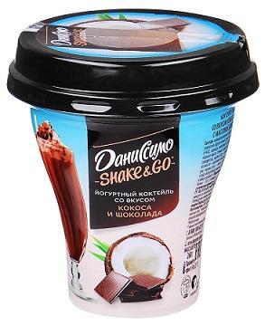 Коктейль йогуртный Даниссимо со вкусом кокоса и шоколада 5,7% 260г