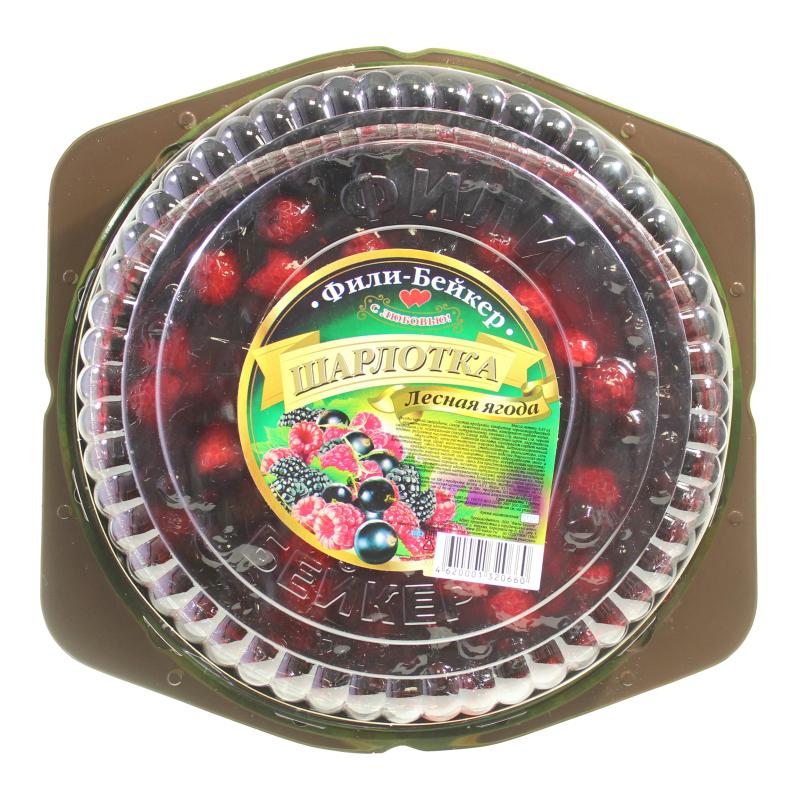 Пирог Шарлотка Лесная ягода Фили-Бейкер, 670гр, Пластиковый контейнер