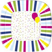 Тарелки бумажные Duni Balloons and Balloons 22 см, 10 шт
