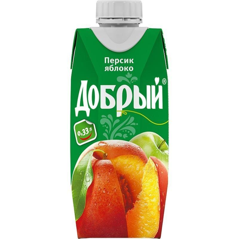 Сок Добрый Персик Яблоко