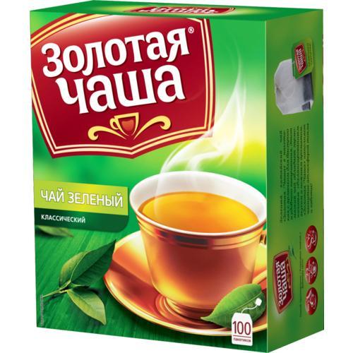 Чай зеленый Золотая Чаша Классический 100 пакетов