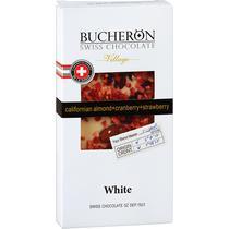 Шоколад Bucheron белый с миндалем, клюквой и клубникой 100 гр.