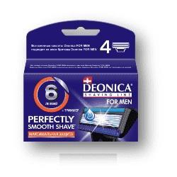 Сменные кассеты Deonica 6 лезвий FOR MEN для бритья 4 шт