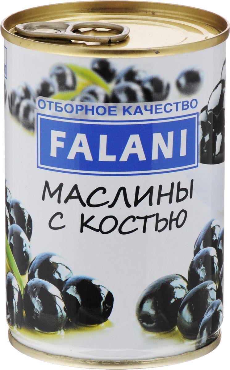 Маслины Falani черные без костей