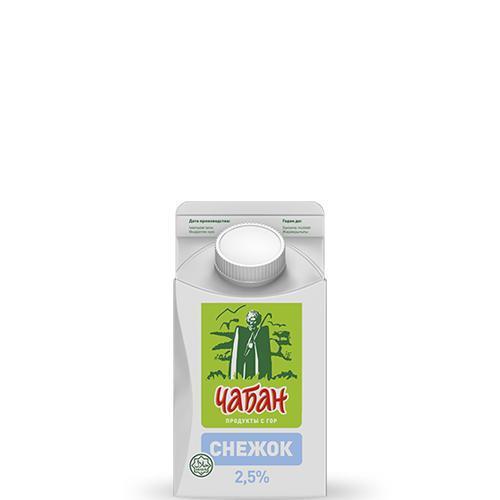 Кисломолочный напиток Чабан Снежок 2,5% йогуртовый