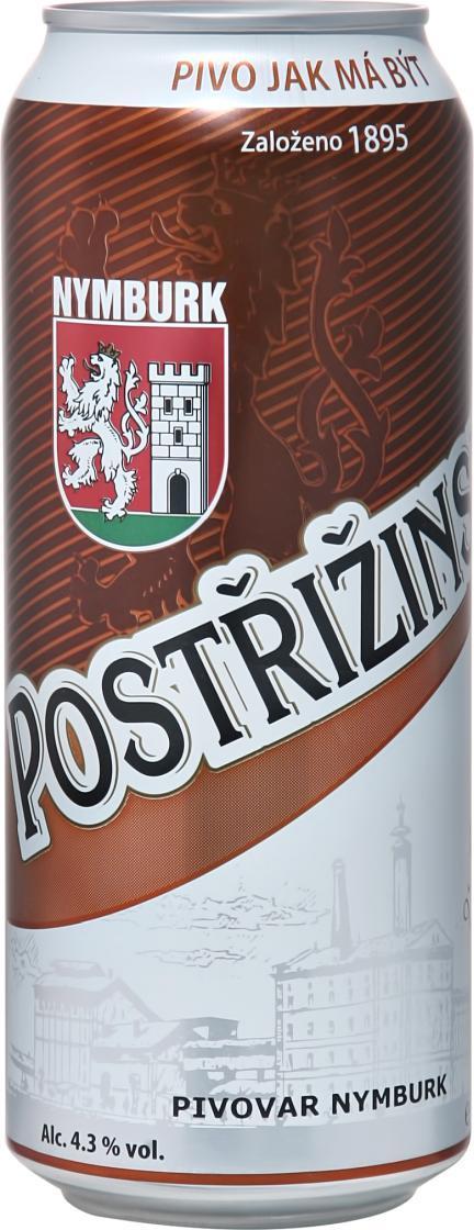 Пиво Postrizinske Tmavy Lezak темное фильтрованное 4.3%