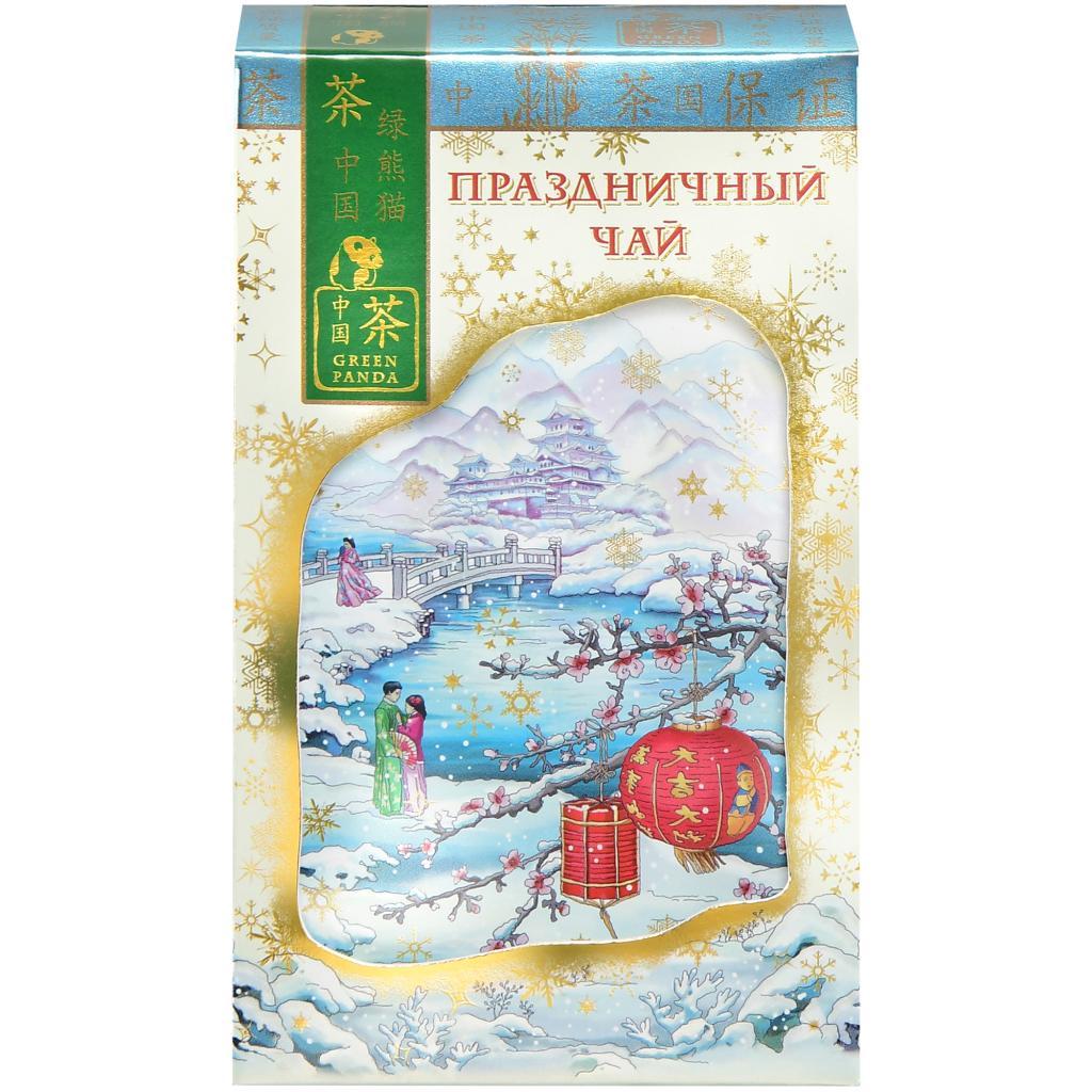 Чай Зеленая Панда Праздничный черный байховый китайский крупнолистовой